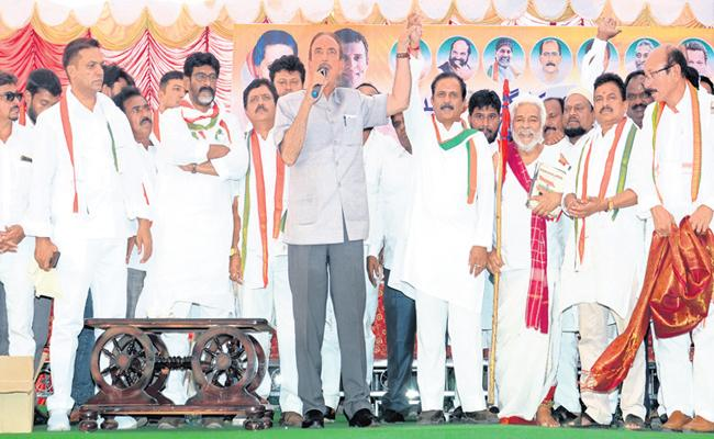 Ghulam Nabi Azad Said BJP And TRS Same In MP Elections - Sakshi