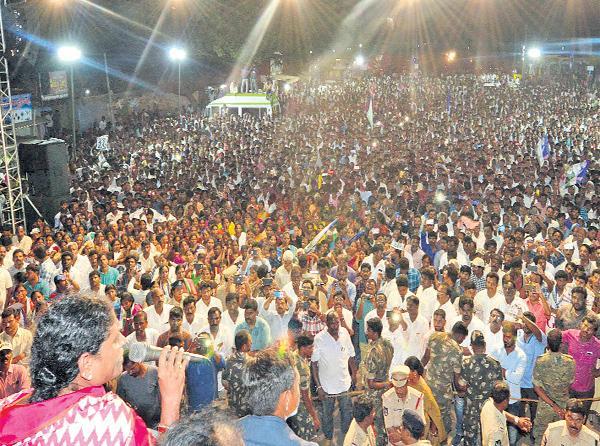 YS Vijayamma Election Campaign in Nayudupeta - Sakshi