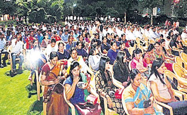 Womens Special Exhibition in Madhura Nagar Metro Station - Sakshi