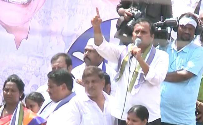 YSRCP MLA Alla Ramakrishna Reddy Satires On Chandrababu And Lokesh - Sakshi