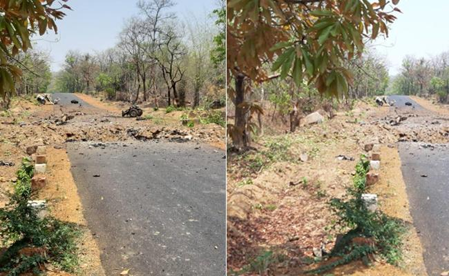 Maoists Blast Security Personnel Vehicle At Gadchiroli - Sakshi