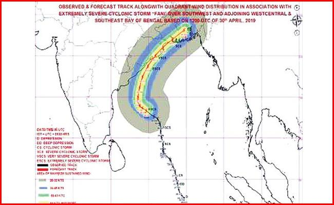 Cyclone Fani intensifies into extremely severe cyclone - Sakshi