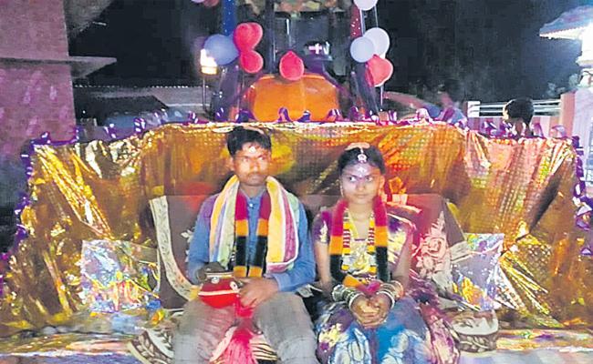 Wedding reception in Jcb Doser - Sakshi