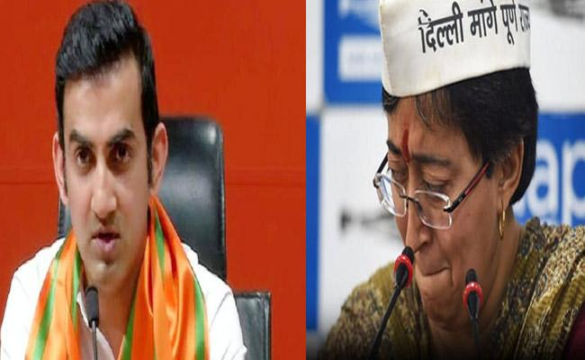 Gambhir Sends Defamation Notice To AAP Leaders Over Pamphlet On Atishi Issue - Sakshi