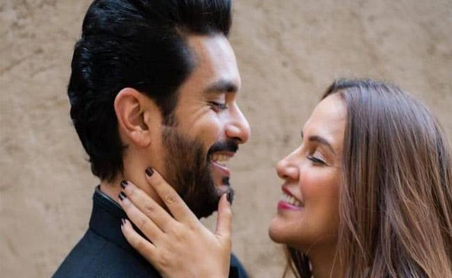 Angad Bedi Comments About Wife Neha Dhupia On First Wedding Anniversary - Sakshi