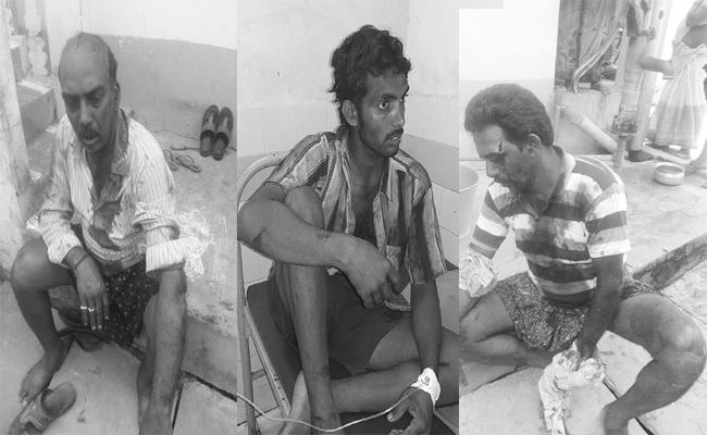 Brothers Knife Attack For Crop Way in West Godvari - Sakshi