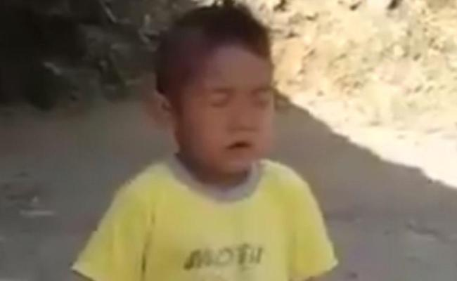 Arunachal child singing Jana Gana Mana Viral Video - Sakshi