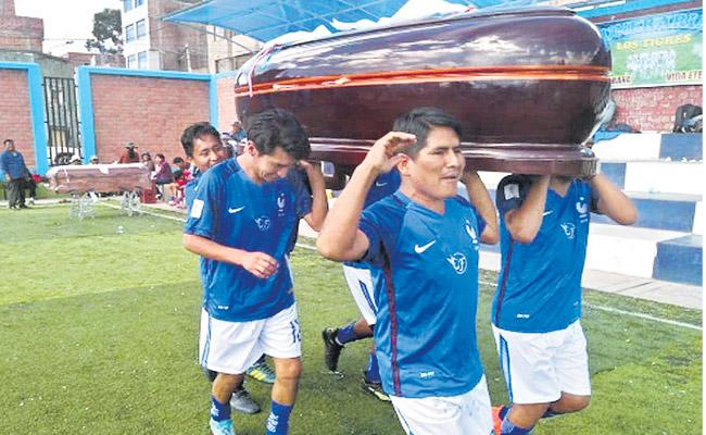 In the town of Juliaca the coffin will be awarded to the football Tournament - Sakshi