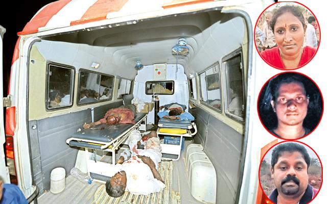 Kurnool road accident: several Bus passengers suffered deep shock  - Sakshi