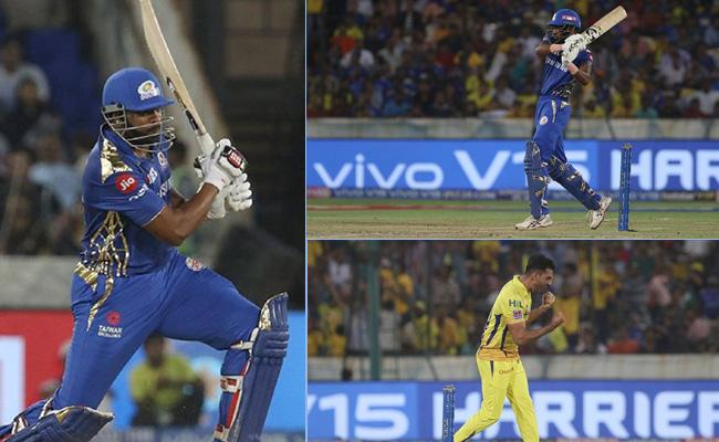 IPL 2019 Final Mumbai Set 150 Runs Target For CSK - Sakshi