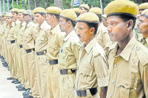 TDP Govt Playing With Home Guards Lifes - Sakshi