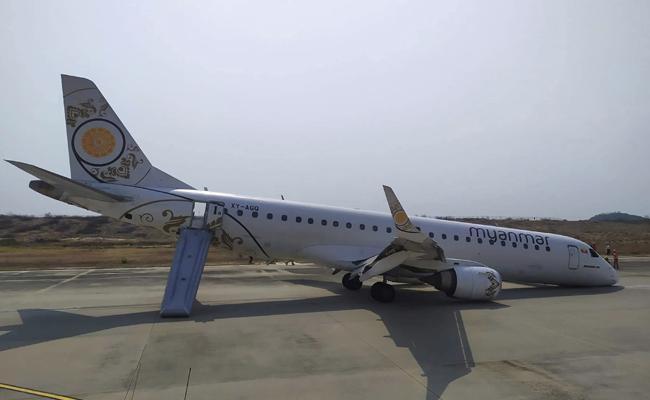 Gear failed Myanmar passenger jet lands safely - Sakshi