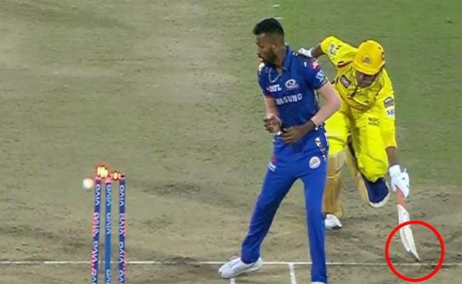 MS Dhoni run-out decision Create Tense in The Match - Sakshi
