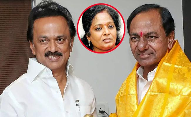 MK Stalin Discussed With BJP, Says Tamilisai soundararajan - Sakshi