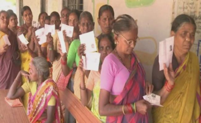 Parishad Election Polling Continues Peacefully - Sakshi