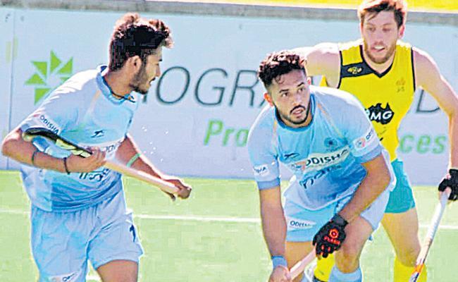 Australia - India Hockey Match drawn - Sakshi