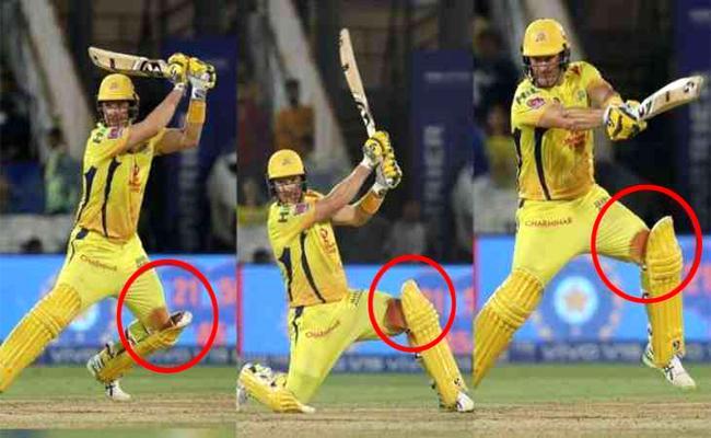 IPL 2019 Final CSK Salute Watson Who Battled Bloodied Leg - Sakshi