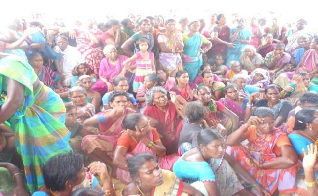 Pandrangi Villagers Demand on Ban Agro Company - Sakshi