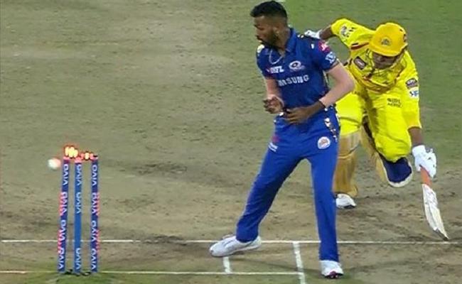 IPL 2019 Final Harbhajan on Dhoni Run Out Against Mumbai - Sakshi