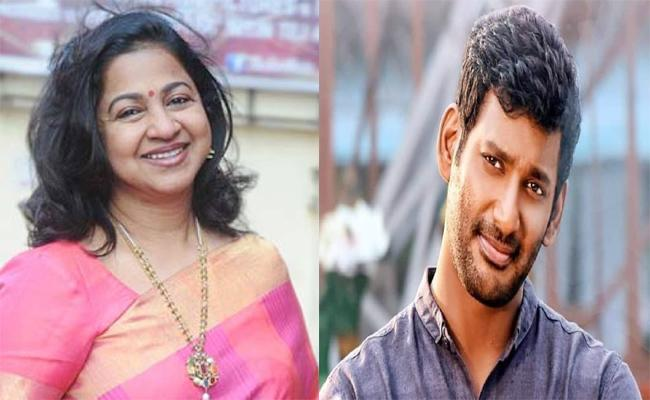 Radhika Sarath Kumar Comments on Hero Vishal - Sakshi