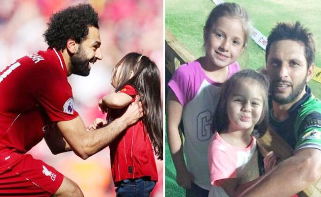 Mo Salah Shares Adorable Pic With Daughter Who Score Goal - Sakshi
