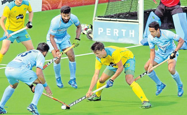 Indian mens Hockey Team go Down to Australia - Sakshi