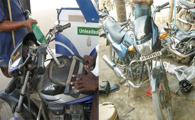 Petrol And Diesel Adulteration in Visakhapatnam Chodavaram - Sakshi