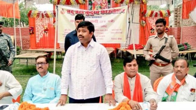 UP Minister Nand Gopal Gupta Receives Threat Call - Sakshi