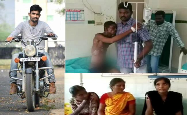 Son Kerosene Oil Attack On Parents - Sakshi