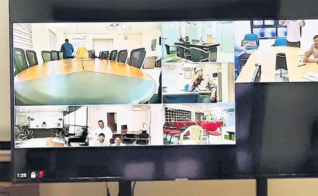 Video Conference Setup in GHMC Office Hyderabad - Sakshi