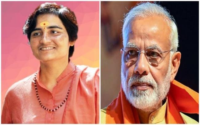 PM Modi Says Cant Forgive Sadhvi Pragya For Insulting Bapu    - Sakshi