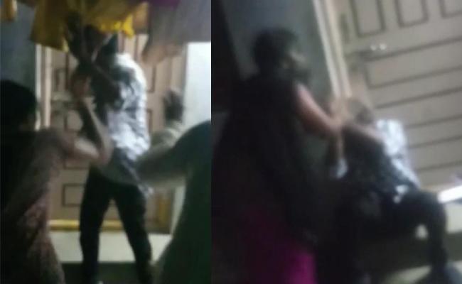 Sisters Attacks Young Man Over Molestation In Nizamabad - Sakshi