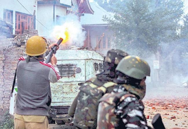 six terrarists killed in jammu kashmie encounter - Sakshi