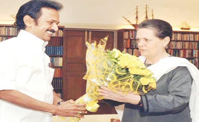 Sonia Gandhi Invites Stalin to Delhi Meeting on 23rd - Sakshi