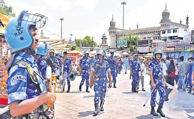 Police Protection in Hyderabad - Sakshi