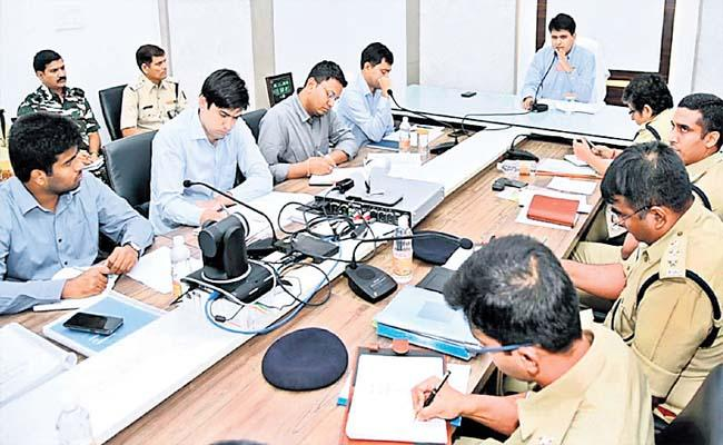 High Security At Counting Centers - Sakshi