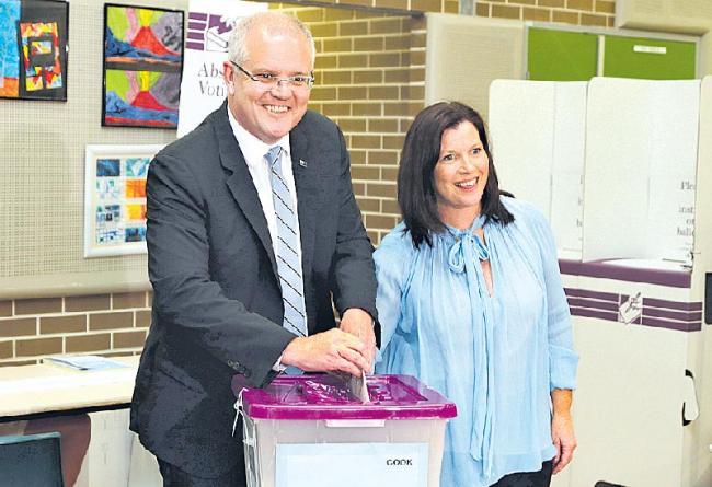 Australia Prime Minister Scott Morrison Scores Surprise Election Victory - Sakshi