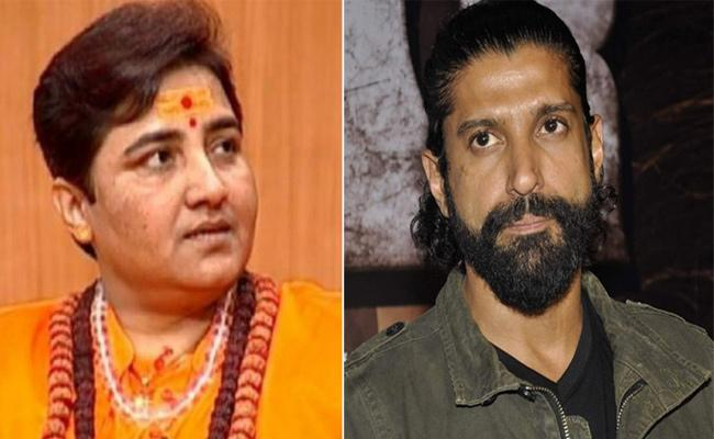 say no to Sadhvi Pragya, Farhan Akhtar Appeals Bhopal, Trolls Fire on Him - Sakshi
