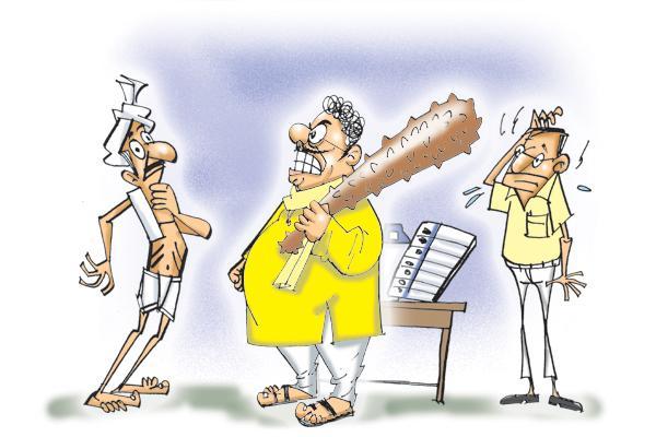 TDP rigging in five villages - Sakshi