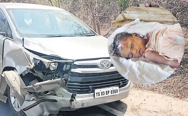 MLA Seethakka Vehicle Met Accident And One Died - Sakshi