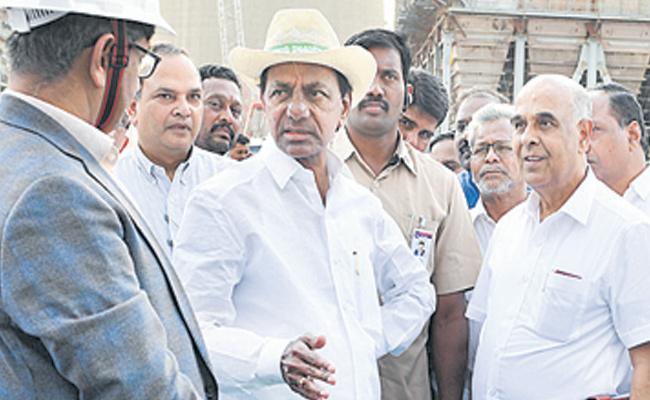 KCR Visits Ramagundam NTPC - Sakshi