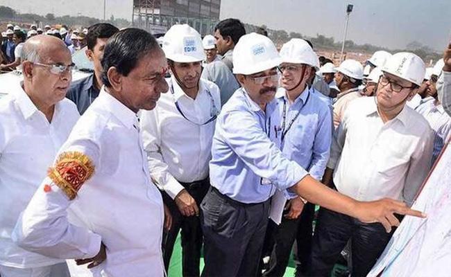 CM KCR Visit Kaleswaram Project In Warangal - Sakshi