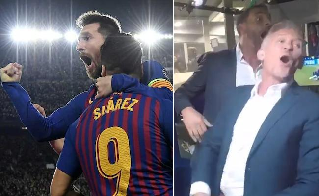 Commentator Gets Crazy After Lionel Messi Scores 600th Barcelona Goal - Sakshi