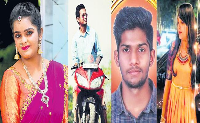 Four Engineering Students Died in Car Accident Yadadri - Sakshi