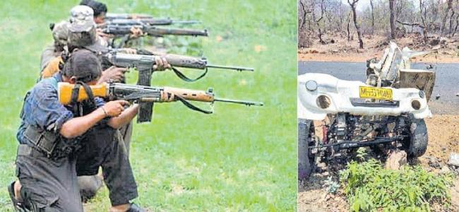 15 jawans killed as Maoists trigger IED in Gadchiroli - Sakshi