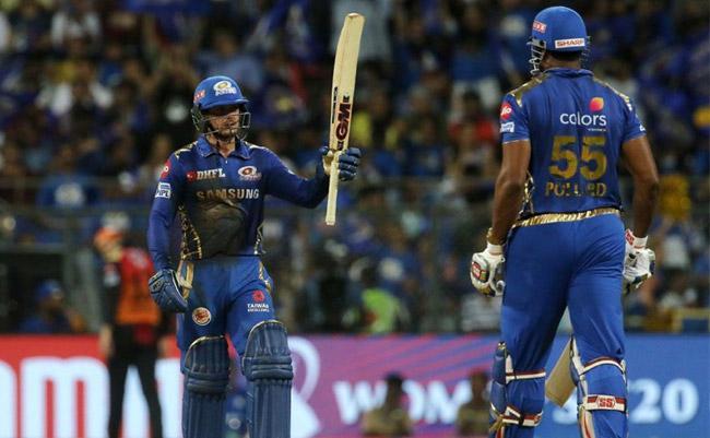 Quinton de Kock hit 69 Help Mumbai Indians to 162 - Sakshi