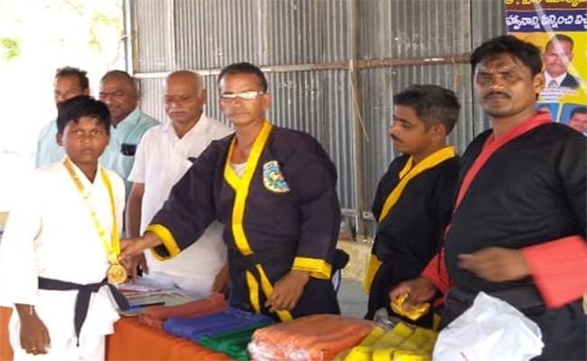 Gold Medal In Karate - Sakshi