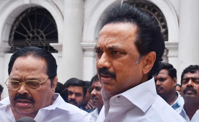 MK Stalin Trashes Exit polls - Sakshi