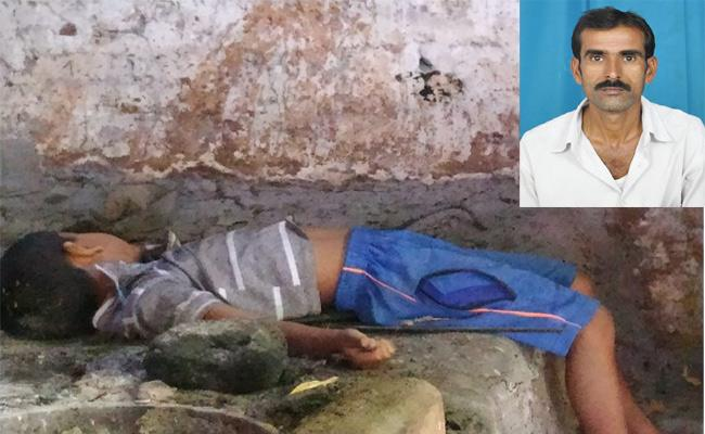 Father Killing Son Nizamabad - Sakshi