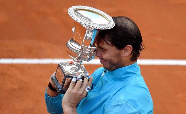 Rafael Nadal downs Novak Djokovic for 9th Italian Open title - Sakshi